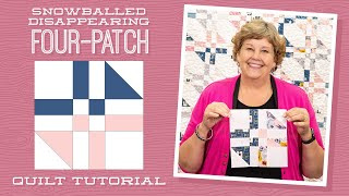 Snowballed Disappearing Four-Patch Quilt Tutorial