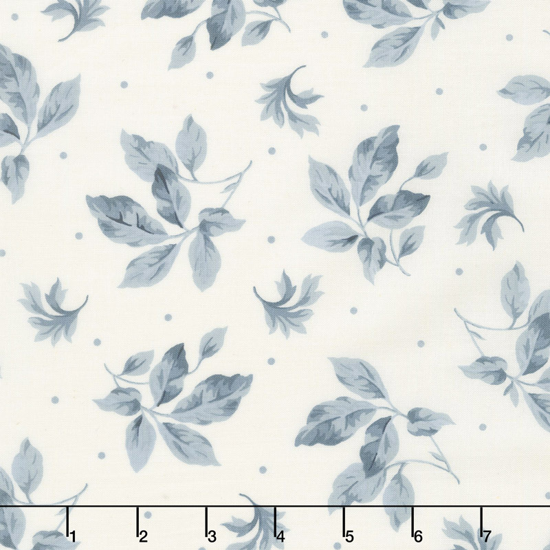 English Countryside - Spaced Leaves Natural Yardage