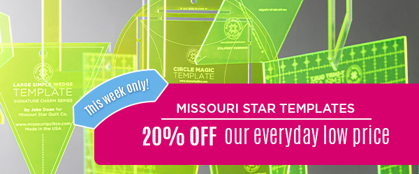 Missouri Star Template Sale