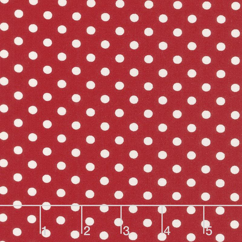 My Redwork Garden - Berry Dots Red Yardage