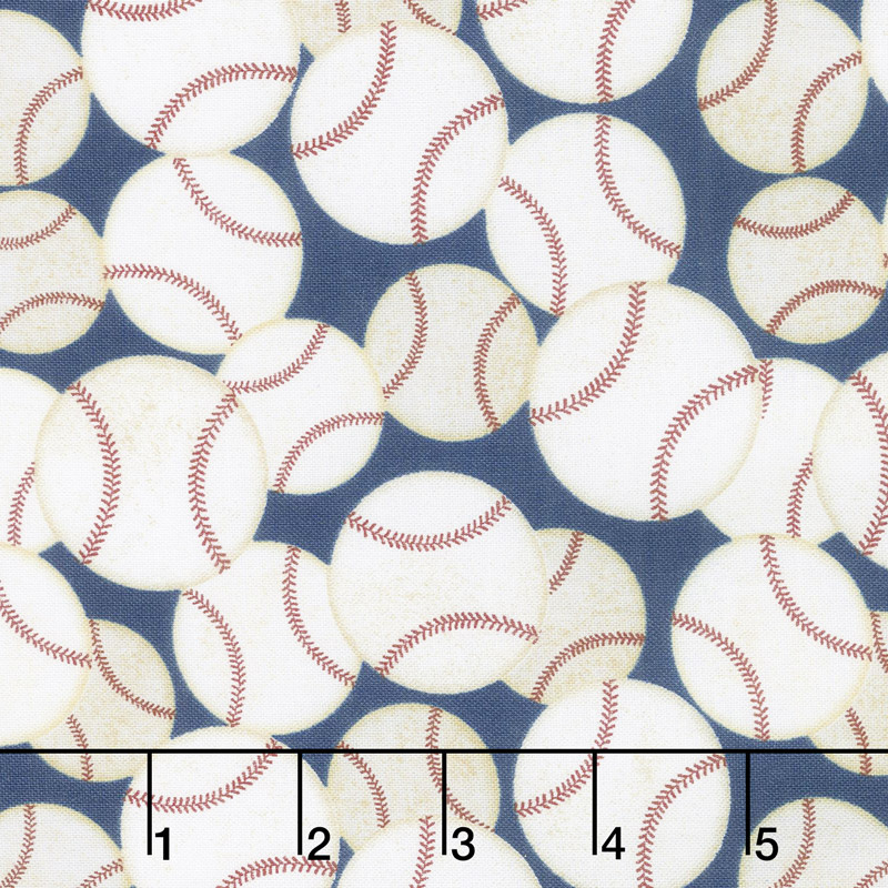 7th Inning Stretch - Packed Baseballs Navy Yardage
