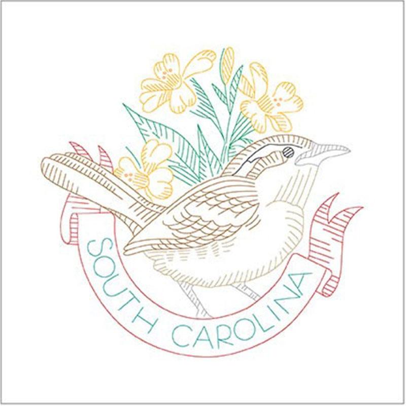 Birds of Liberty - South Carolina Digitally Printed Panel