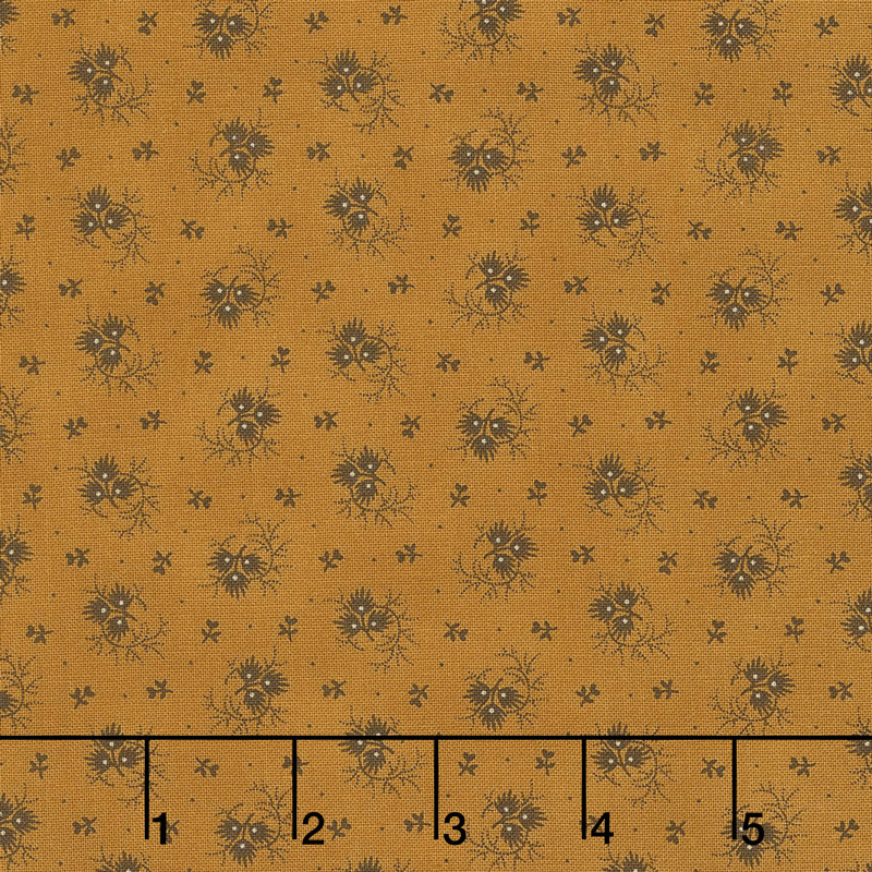 Spice It Up - Flora Golden Yellow Yardage