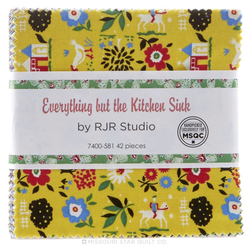 Everything But the Kitchen Sink 2016 Charm Pack - RJR Fabrics ...