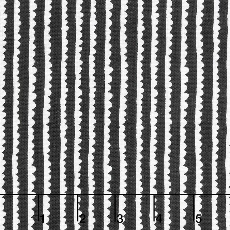 Black & White - Hedgerows Black Yardage