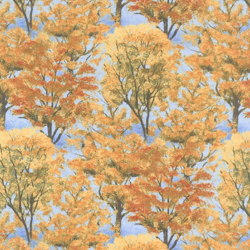 Autumn Grove - Grove Blue Yardage