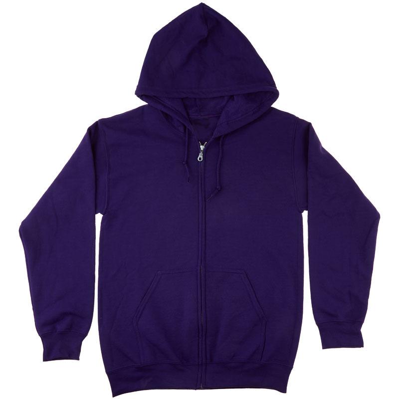 Missouri Star Bling Full Zip Hoodie - Purple Medium