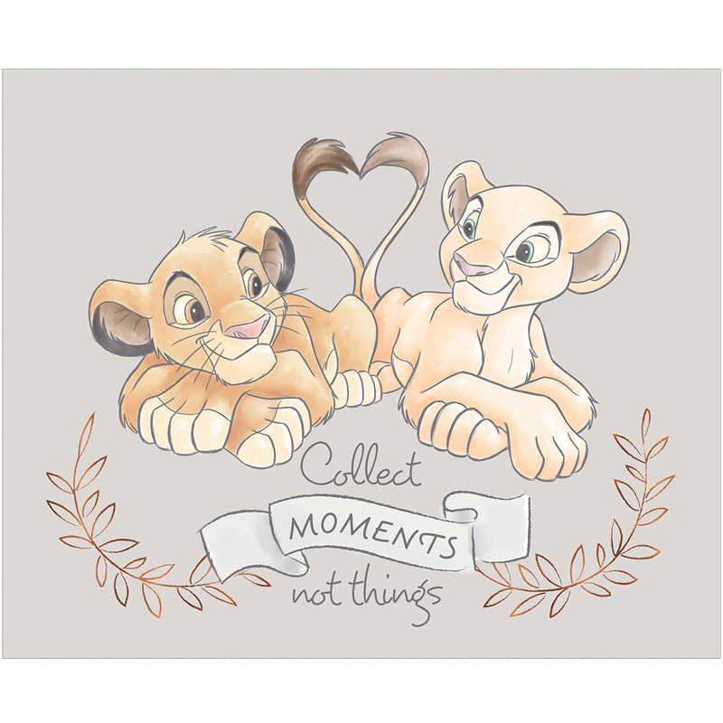 Disney Sentimental - Simba & Nala in Light Grey with Metallic Copper Panel
