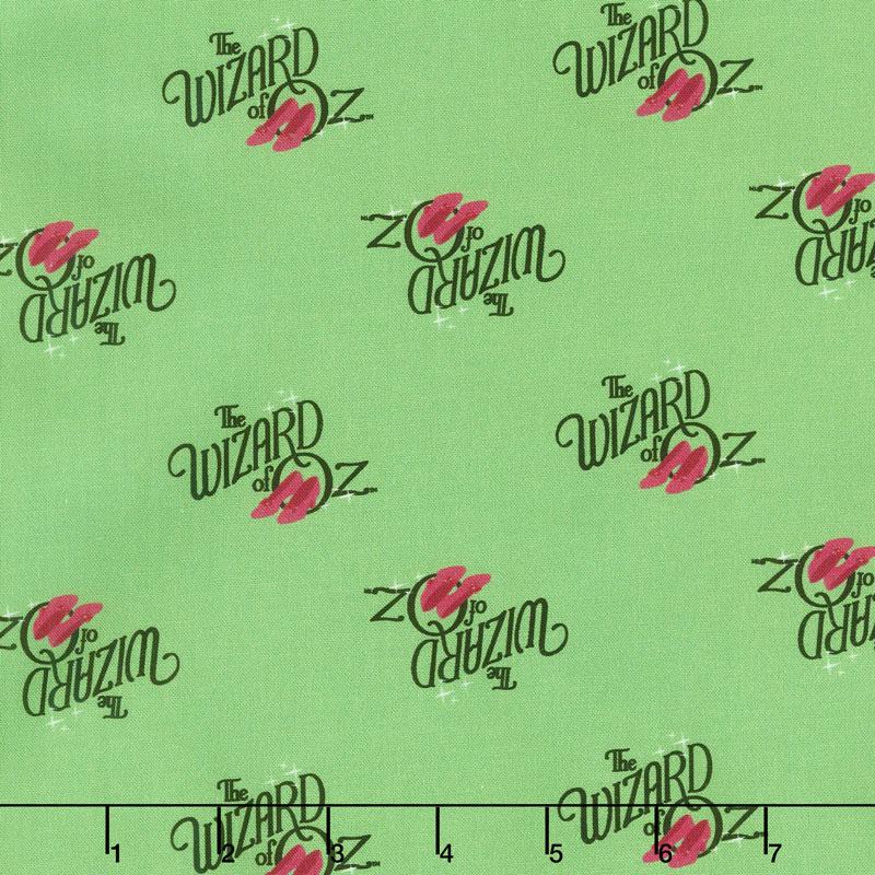 Wizard of Oz - Oz Logo Green Yardage