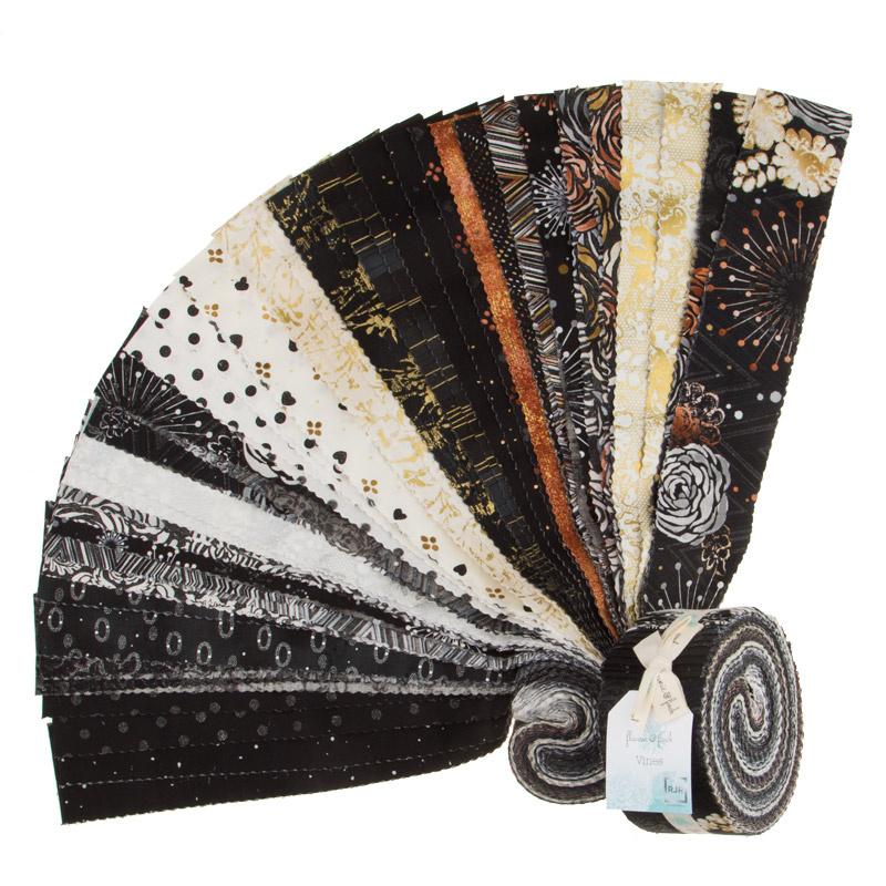 Shiny Objects - Precious Metals with Black Glitter/Metallic Pixie Strips