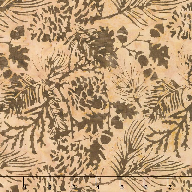 Oh Deer Batiks - Pine Leaf Blush Yardage