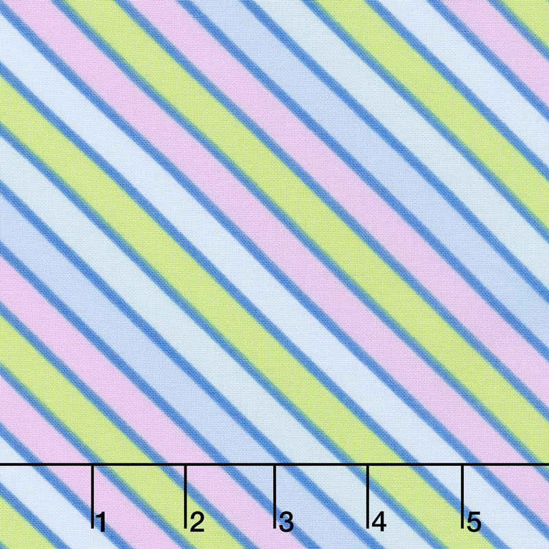 Sparkle Magic Shine - Diagonal Stripe Blue Purple Lime Yardage
