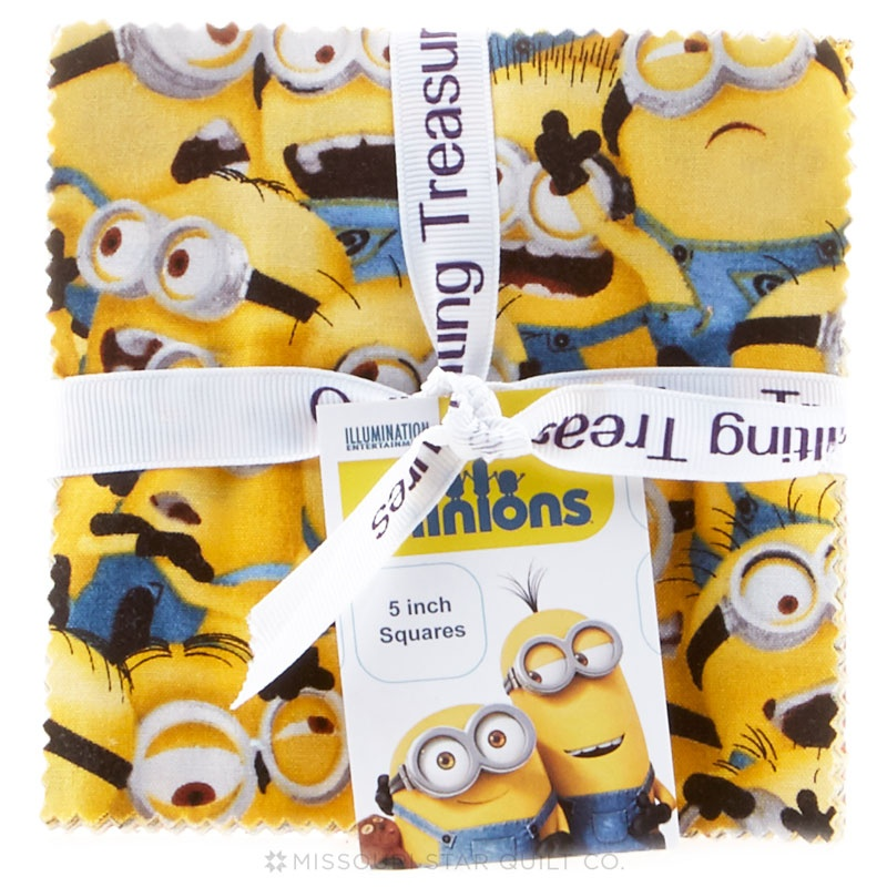 1 in a Minion Charm Pack - Despicable Me Minion Made - Quilting ... : minion quilt - Adamdwight.com