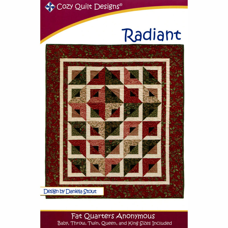 pieced quilt PATTERN for fat quarters Cozy Quilts Pop Ups 5 sizes