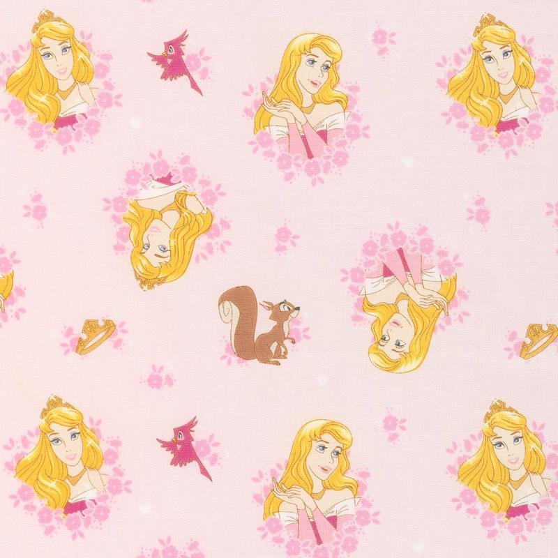 Disney Forever Princess - Princess Aurora in Wreaths Yardage