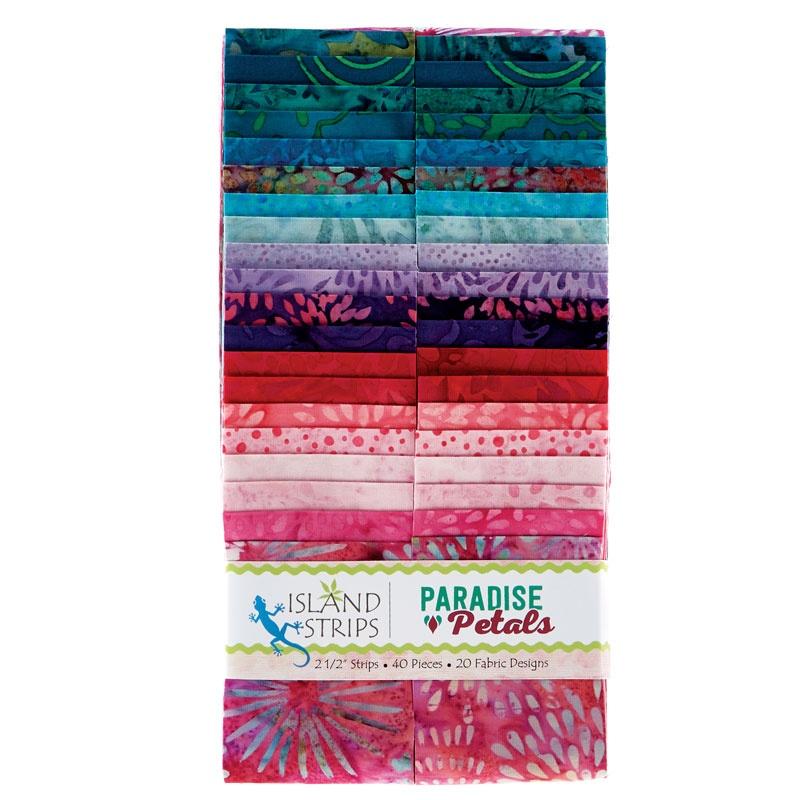 Paradise Petals Batiks Strip Pack