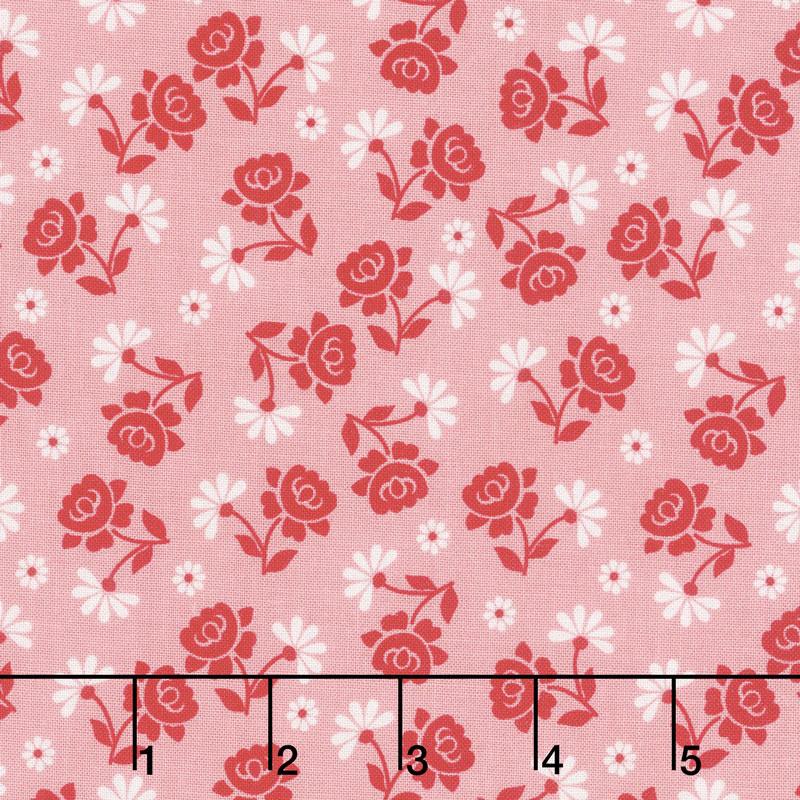 Granny Chic - Roses Pink Yardage