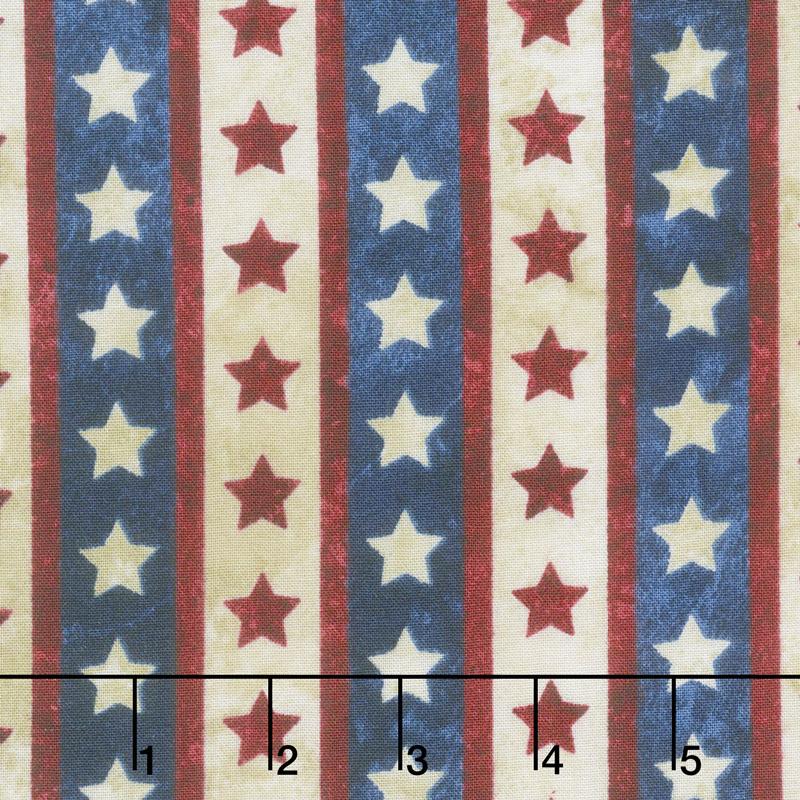 8a738709c71 Stonehenge Stars and Stripes VII - Star Stripe Navy Yardage - Linda  Ludovico - Northcott