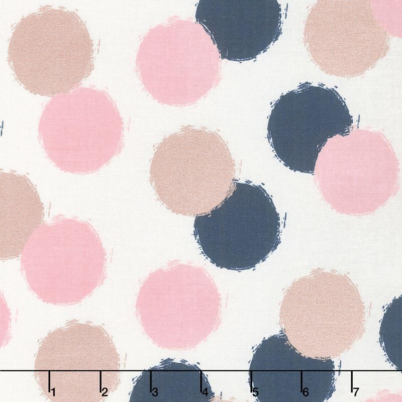 Blush - Puffs Cream Sparkle Yardage