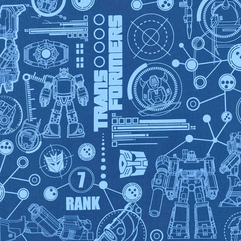 Transformers transformers blueprint blue yardage camelot design transformers transformers blueprint blue yardage malvernweather