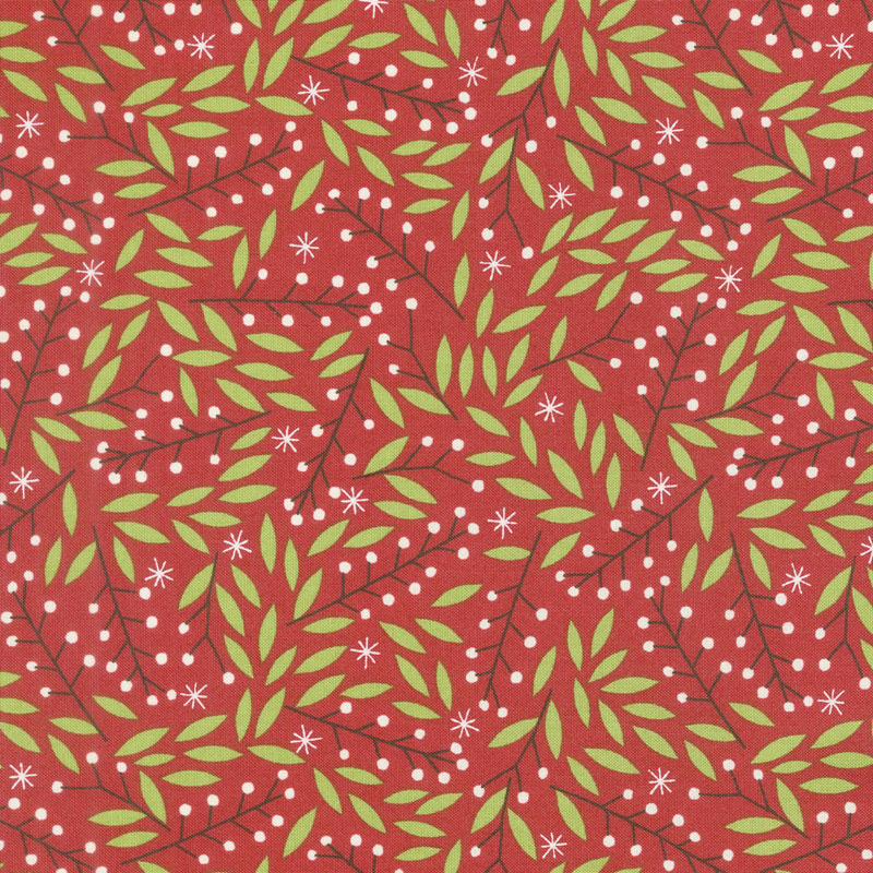 Merriment - Holly Berries Berry Yardage