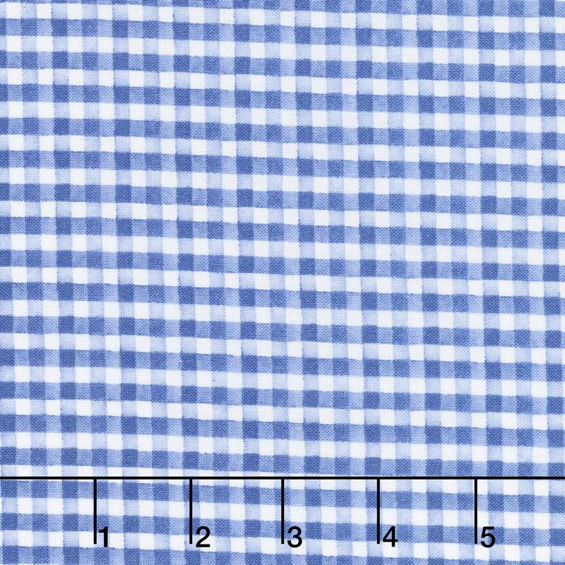 Berry Sweet - Gingham Blue Yardage