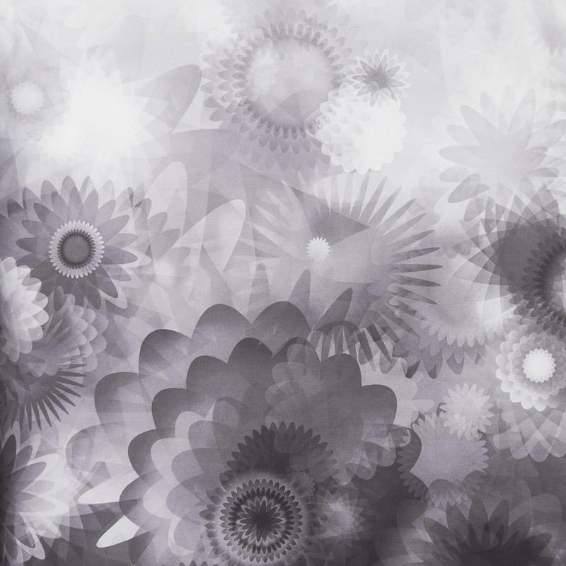 Gradients 2 - Onyx Blooms Digitally Printed Yardage