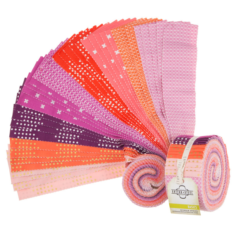 Cotton + Steel Basics Berry Spindle Strips