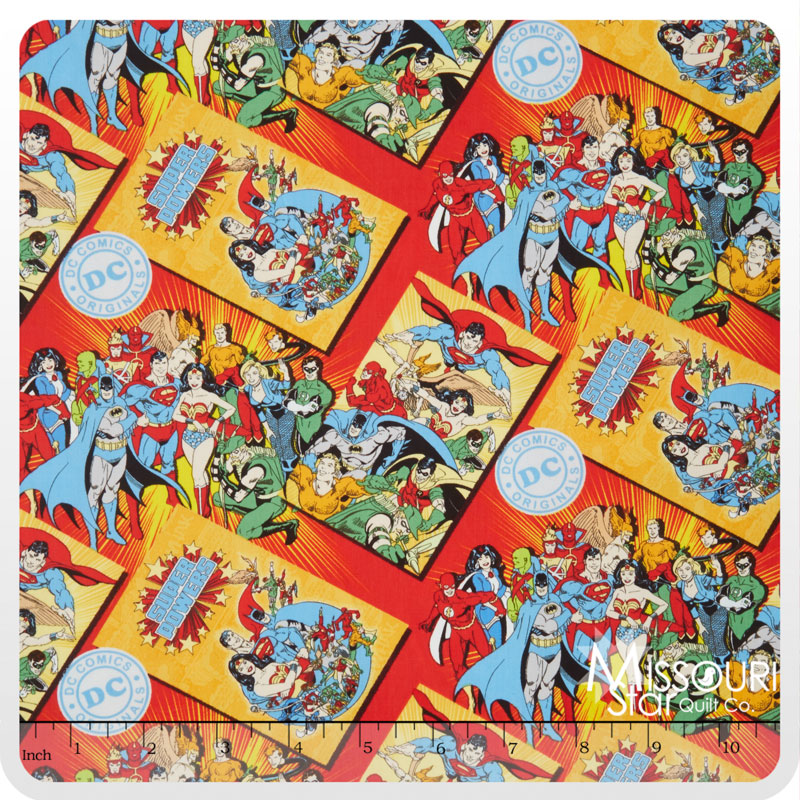 DC Comics - Comic Book Covers Red Yardage