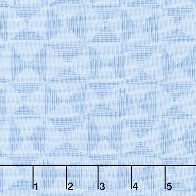 Top Drawer - Basket Weave Baby Blue Yardage
