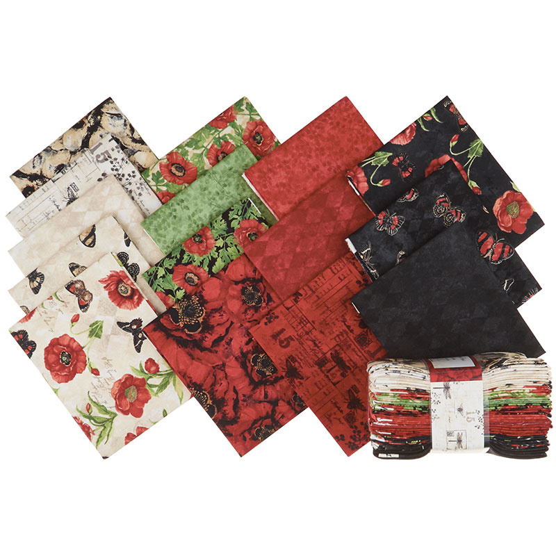 Harlequin Poppies Fat Quarter Crystals