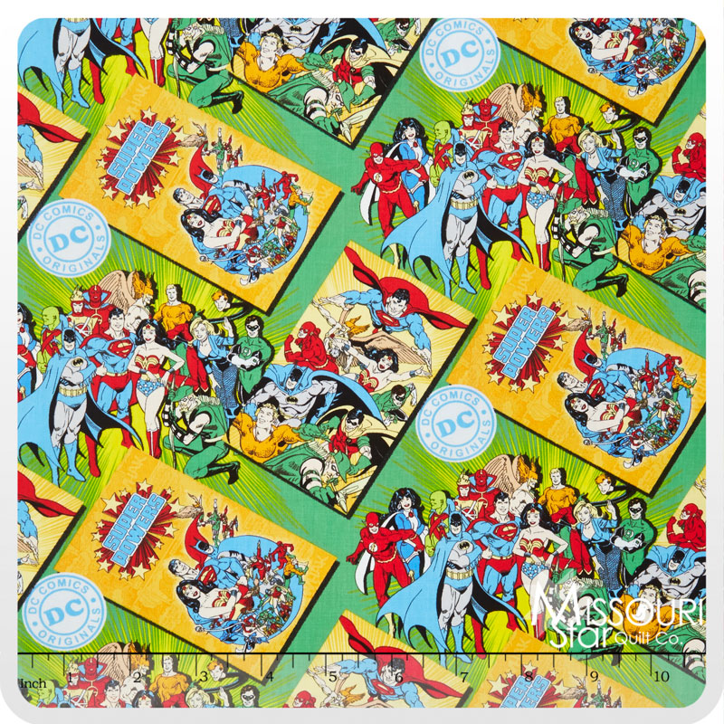 DC Comics - Comic Book Covers Green Yardage