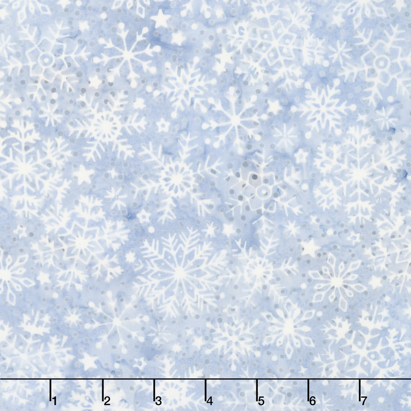 Blue Moon Batiks - Snowflake Pewter Yardage
