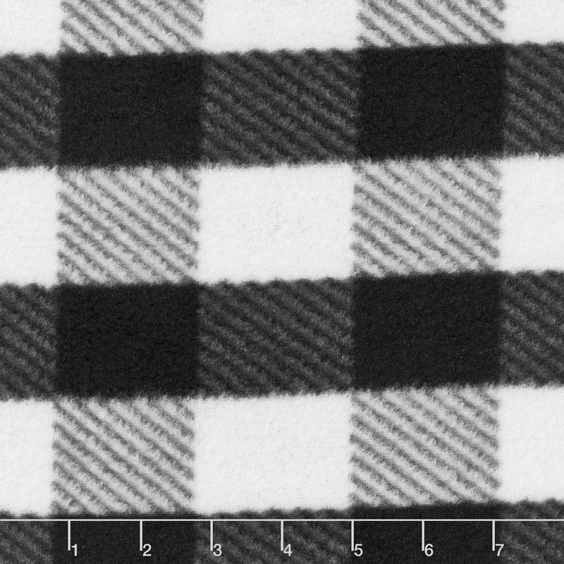 Fleece Plaids & Checks - Gingham Plaid Black Yardage