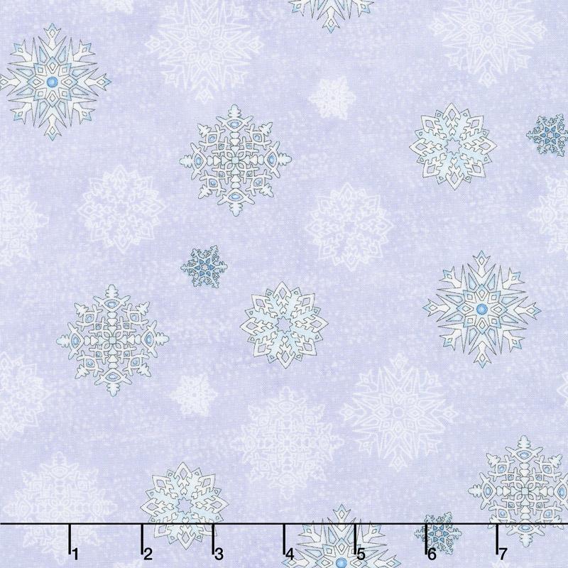 Arctic Wonderland - Snowflake Toss Light Gray Yardage