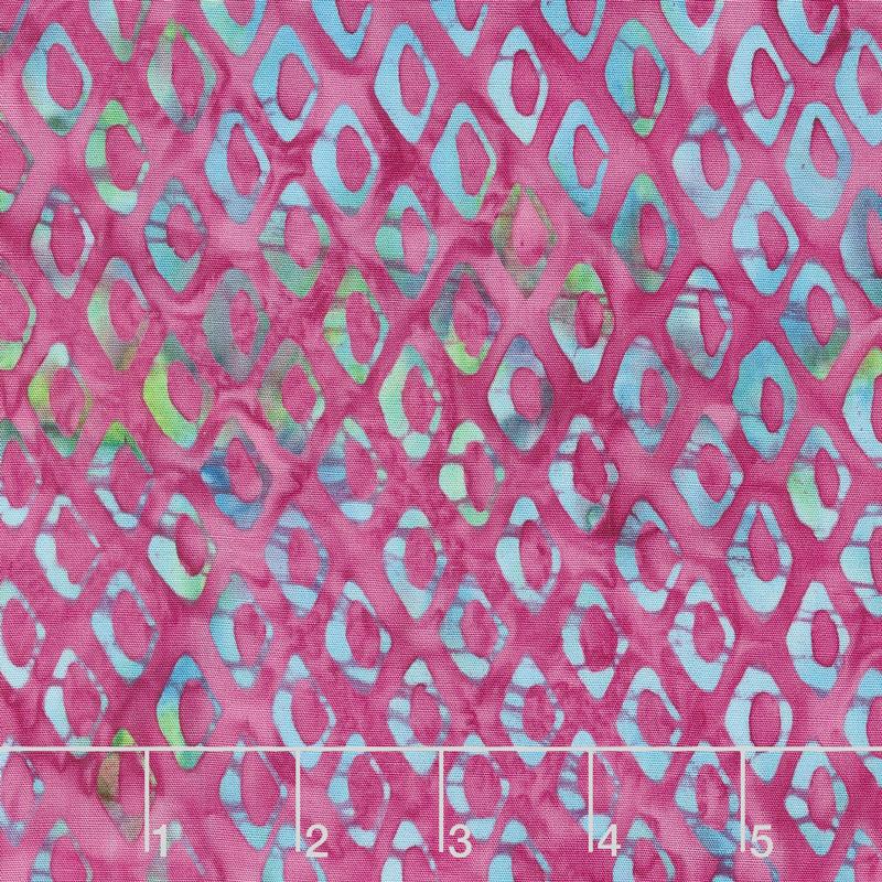 Ocean Odyssey Batiks - Fish Scales Raspberry Yardage