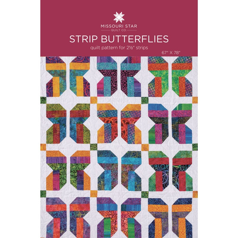 Strip Butterflies Quilt Pattern By Missouri Star Missouri Star