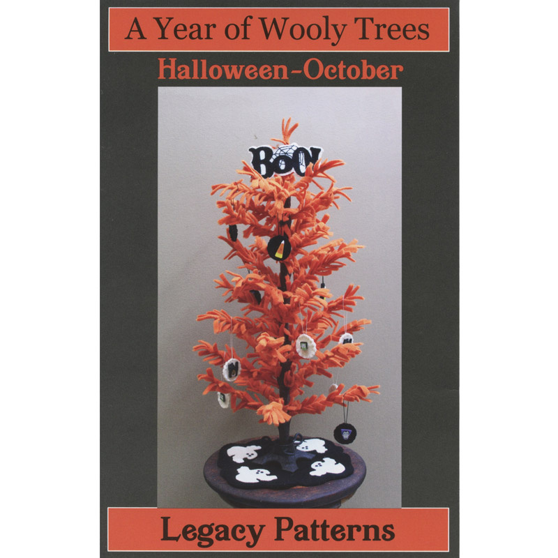 A Year of Wooly Trees Pattern - October Halloween