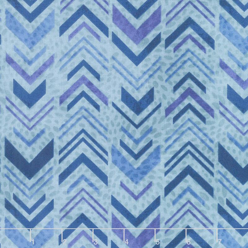 Tessellations - Broken Chevron Aqua Yardage