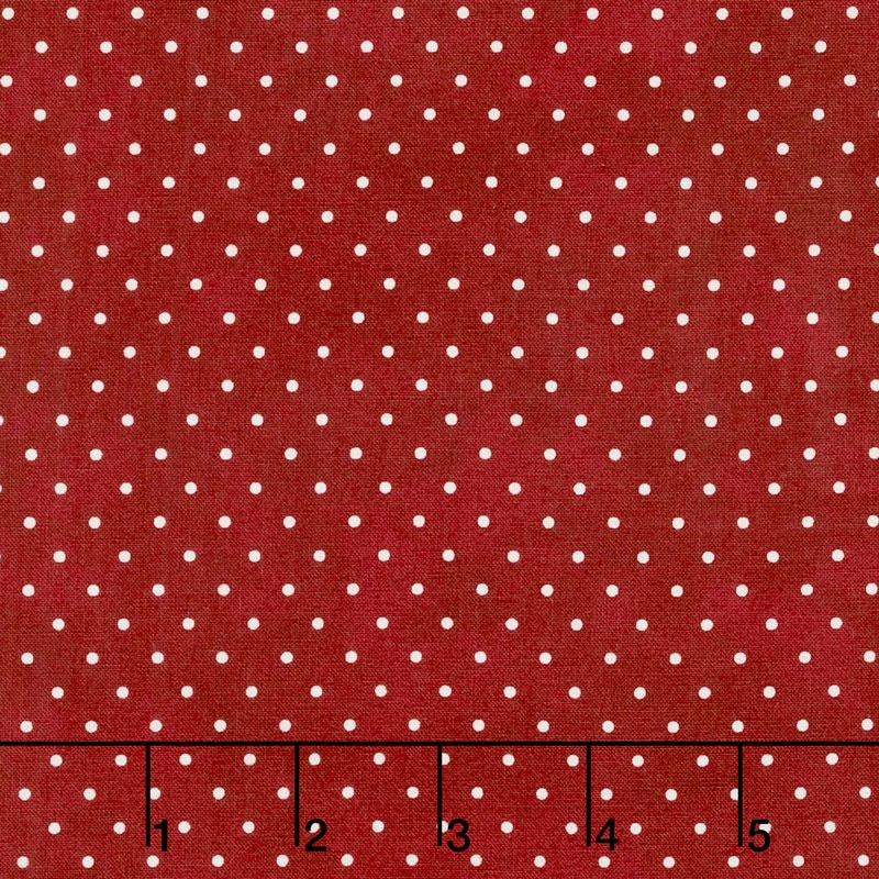 Beautiful Basics - Classic Dot Red Yardage - Maywood Studio