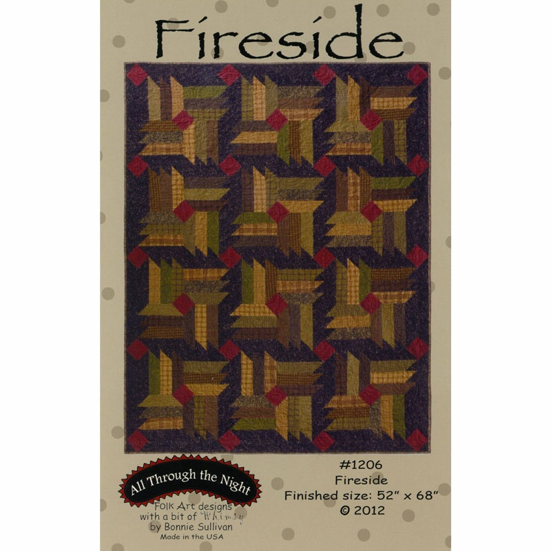 Fireside Pattern - Bonnie Sullivan - All Through the Night ... : all through the night quilt patterns - Adamdwight.com