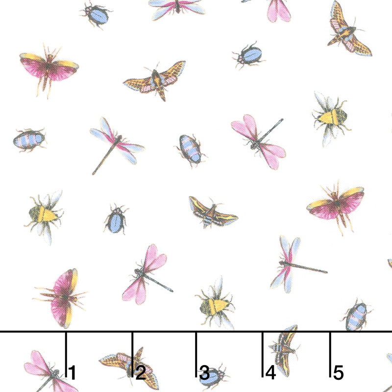 Greenhouse - Garden Insects White Yardage