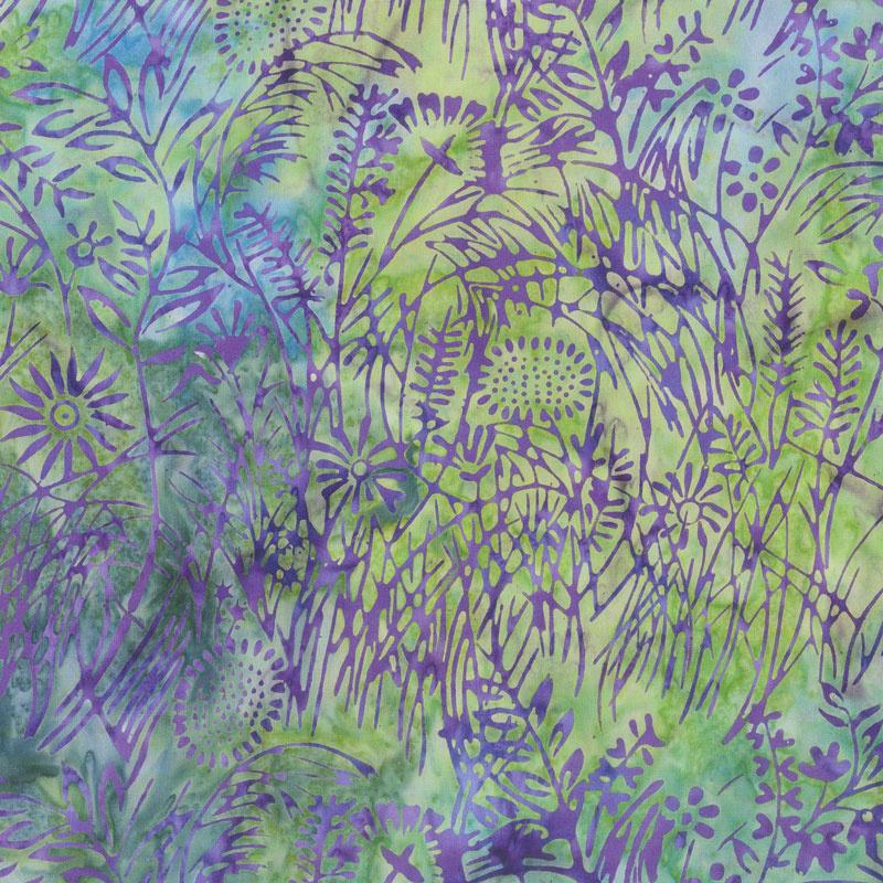 Enchanted Forest Batiks - WIldflower Parakeet Yardage