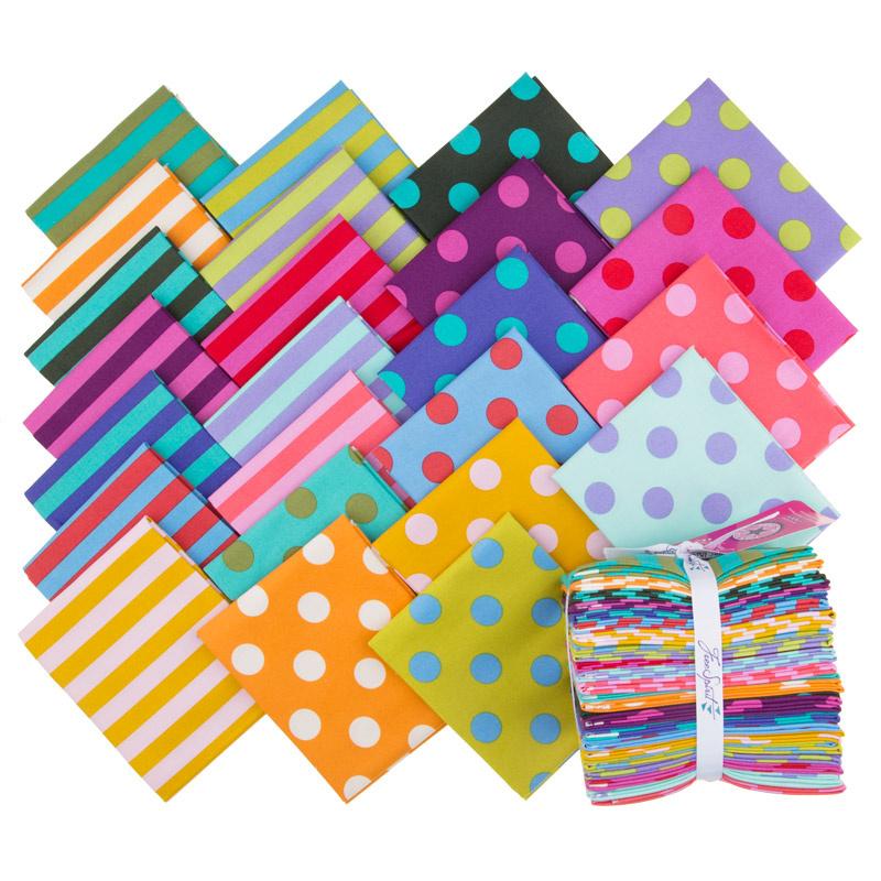 Tula Pink's All Stars Pom Poms & Stripes Fat Quarter Bundle