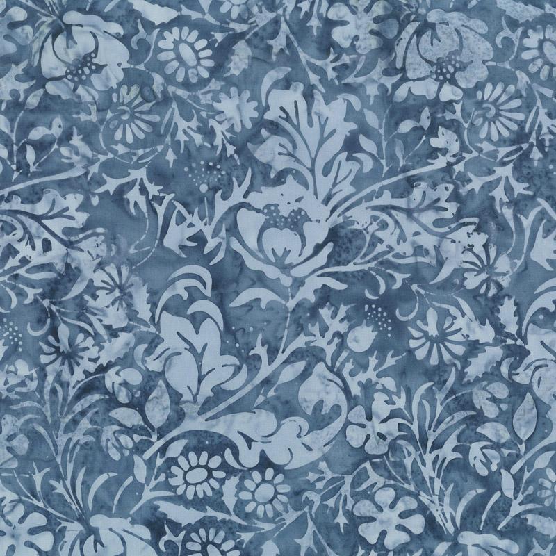 London Fog Batiks - Cherwell French Blue Yardage