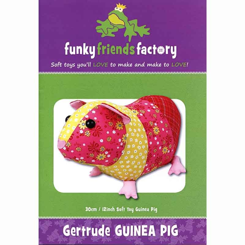 Gertrude Guinea Pig Funky Friends Factory Pattern