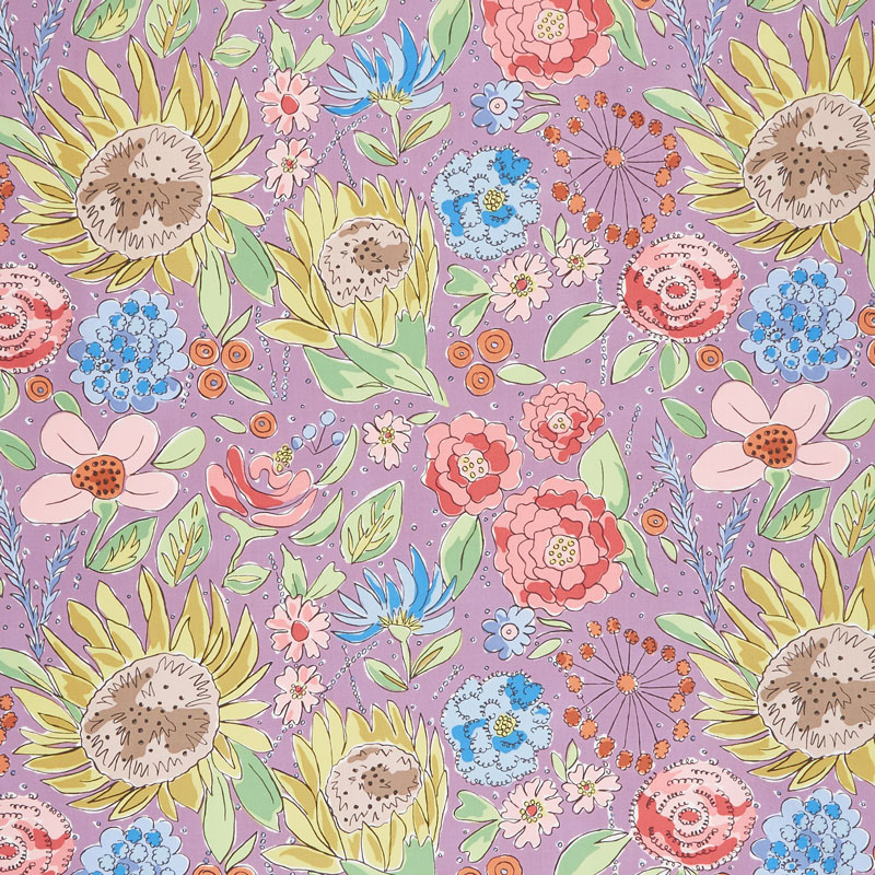 Color Fusion - Sunflower Lavender Yardage