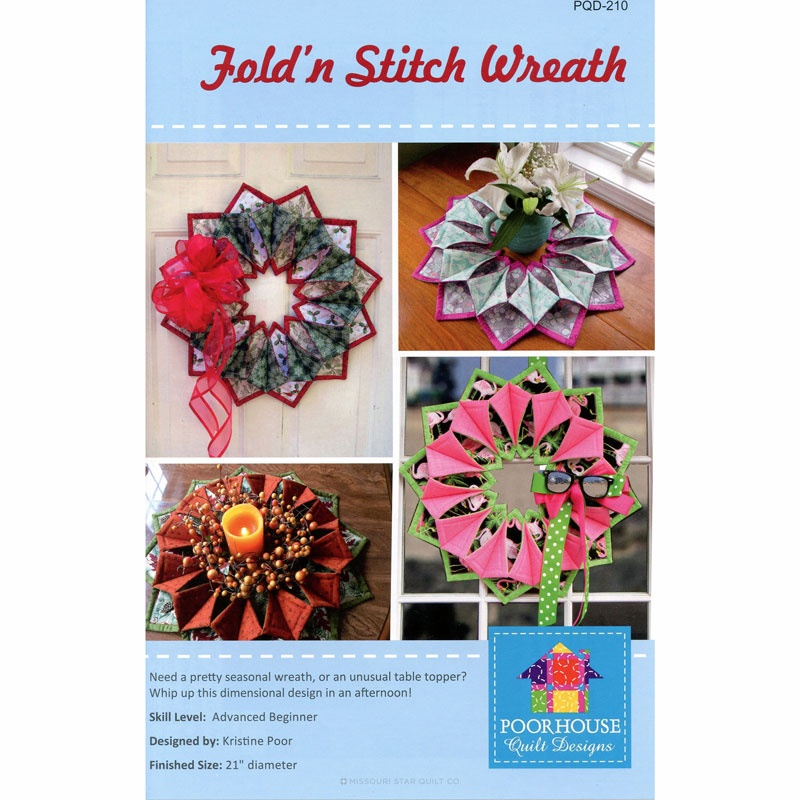 Fold N Stitch Wreath Pattern Poorhouse Quilt Designs