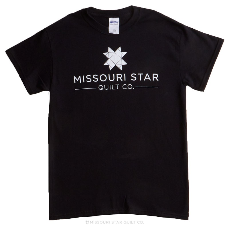 Missouri Star Black with White Logo T-Shirt - 3XL