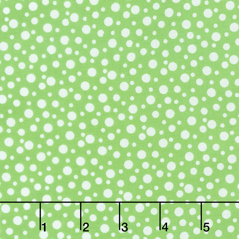 Adeline - Dots Green Yardage